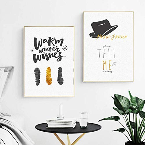 Zszy bedrukt bord op canvas, decoratie voor thuis, Scandinavische stijl, tekeningen met verende muts, schilderijen, woonkamer, 40 x 60 cm, 2 delen zonder lijst
