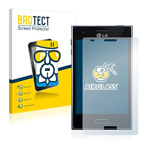 brotect Pellicola Protettiva Vetro Compatibile con LG Electronics E610 Optimus L5 Schermo Protezione, Estrema Durezza 9H, Anti-Impronte, AirGlass