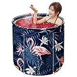 snmi Bañera Plegable portátil, bañera Inflable Caliente de PVC, Mantenimiento eficiente de la Temperatura, Ideal para baño de Hielo Caliente