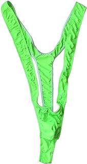 Freebily Men's Sexy Mankini Swimsuit Costume Bikini Thongs Suspender Bodysuit