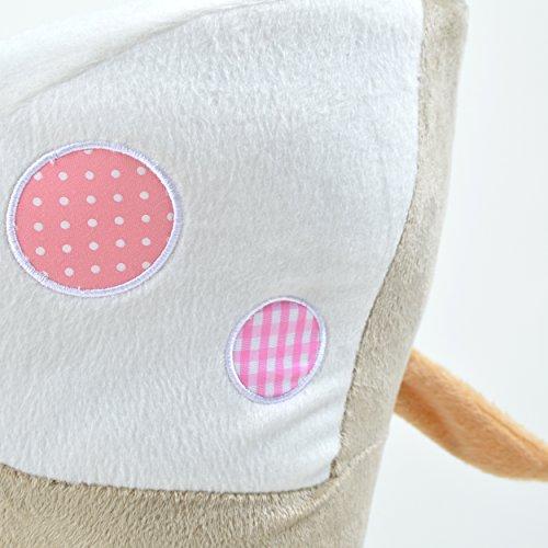 Pink Papaya Schaukeltier – Esel Pepe – Kinder und Baby Schaukelpferd, spezieller Schaukelstuhl für Kinder, mit Sound, Kopfhöhe ca. 50 cm, Sitzhöhe ca. 30 cm - 6