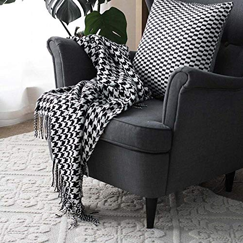 AMY-ZW Knit Bed Throw Blanket Microfiber Sofa Blankets Winter Warm Quilts For Couch Settee Chair Armchairs Travel Pushchair Xmas Decorative New Home Gifts-130x230cm