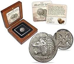 IMPACTO COLECCIONABLES Monedas Antiguas - Dióbolo de Mileto en Plata, Grecia Antigua