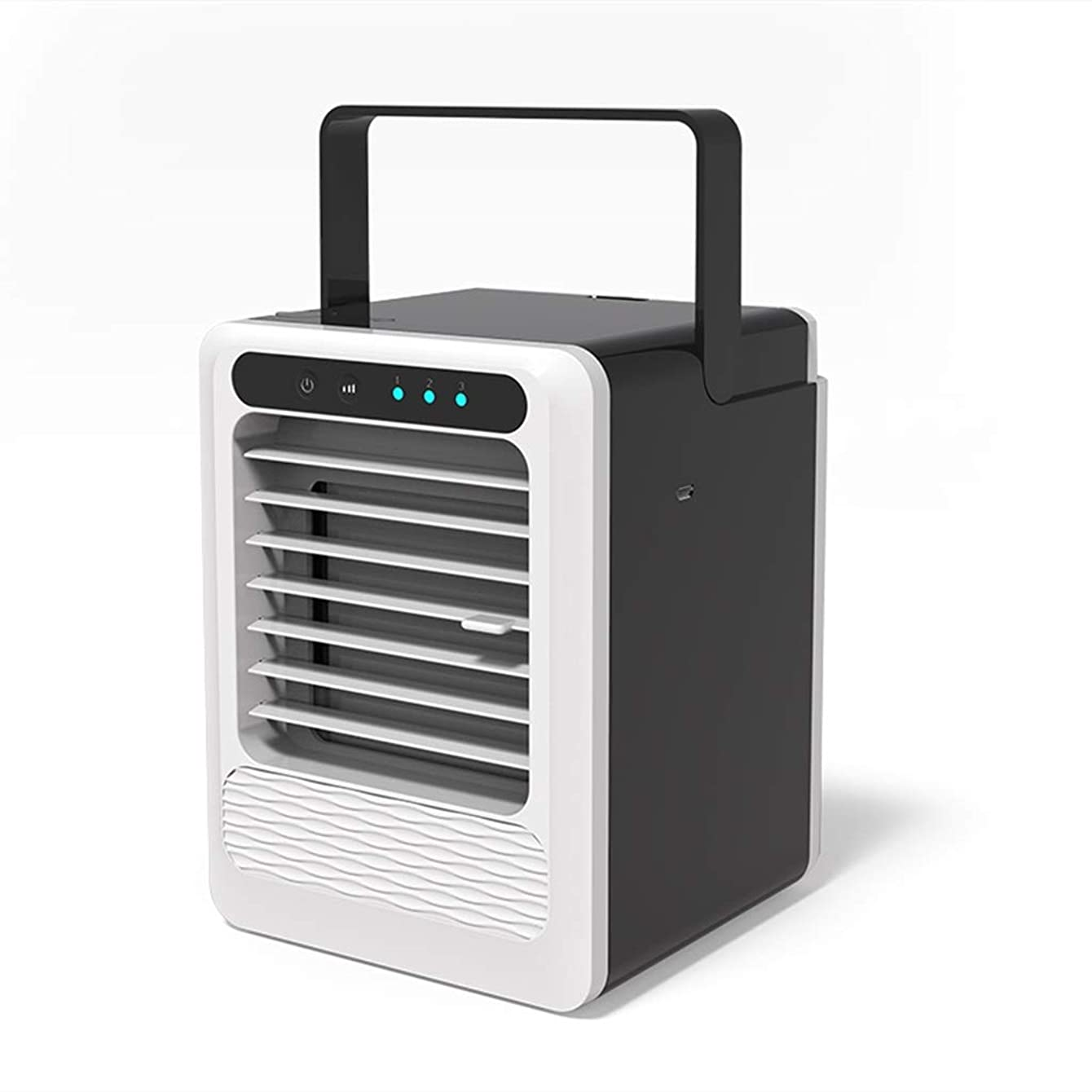 Slow Time Shop Personal Space Air Conditioner, USB Mini Portable Air Cooler, 3 in 1 Humidifier, Purifier, Evaporative Cooler Desktop Cooling Fan with 3 Speeds for Home Room Office