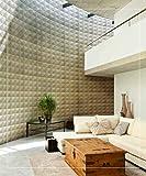 Easy Peel & Stick, Durable Plastic Textured Decorative 3D Wall Panel - Diamond Design. 12 Panels. 32 SF