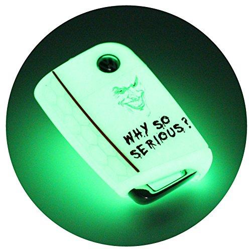 Llave Móvil VB para 3botones llave de coche silicona Cover–Finest de Folia Carcasa Funda para llaves .Joker Nachtleuchtend