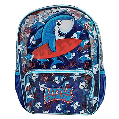 Mochila transparente para niños, bolsa de almuerzo, bolsa para lápices, mochila de PVC transparente con diseño de dibujos animados para niñas, niños y niños