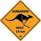 Autocollant sticker laptop macbook panneau route australie kangourou kangaroo