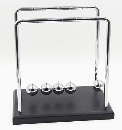 Newtons Cradle Balance Balls wooden base 7 1/4 inch