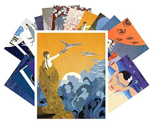 Postcard Set 24 cards Erte Vintage Painting Art Deco