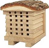 NEST TO NEST Casetta per Api in Legno Natural I Hotel Rifugio per Api Selvatiche Solitarie I qualità Premium