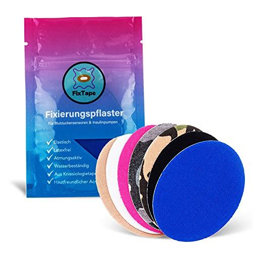 FixTape atmungsaktives Sensor-Tape für Freestyle Libre 1 & 2 Glukose-Sensor I selbstklebendes Patch mit hohem Trage-Komfort hypoallergen hautfreundlich wasserfest in modernen Designs I 7 Stk (Mix)