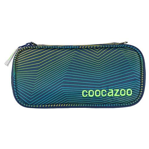 """coocazoo Federmäppchen PencilDenzel """"Soniclights Green"""" grün, Schlamperetui, Geodreieckfach, Stundenplanfach, herausnehmbarer Stiftehalter, zusätzliches Reißverschlussfach"""