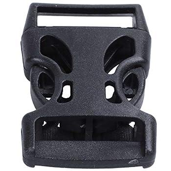 Beauneo 4Pcs Clip Plastique pour Boucles Rapides à Dégagement Rapide pour Bande De 25 Mm De Long, Noir