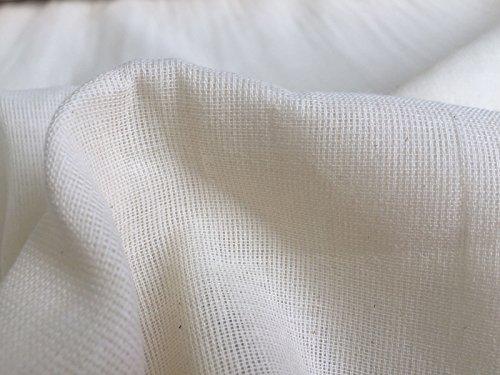 HomeBuy 100% COTTON MUSLIN FABRIC Materiaal fijne kaas doek - voor dressmaking voile gordijnen - 160cm breed (verkocht per meter)