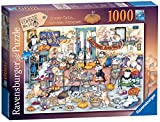 Ravensburger Crazy Cats Autumn Banquet Jigsaw Puzzle 1000 Piece for Adults and Kids Age 12 and Up