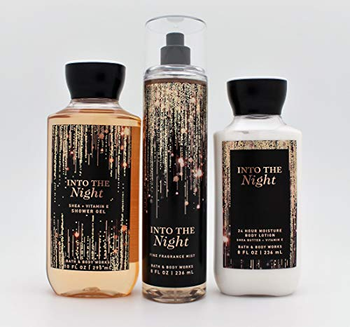 Bath and Body Works - Into the Night - Daily Trio - Shower Gel, Fine Fragrance Mist & Super Smooth Body Lotion