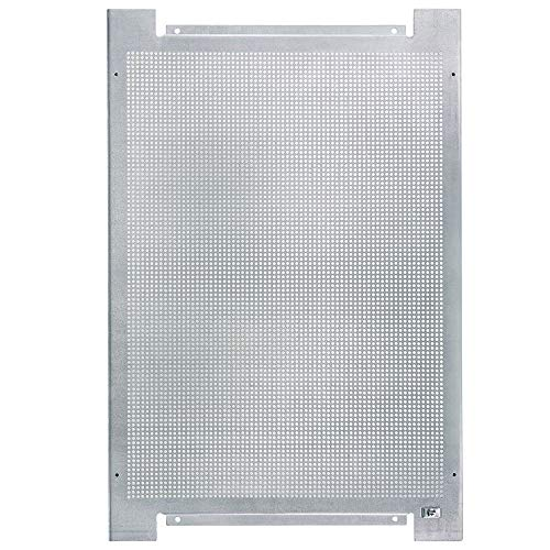 ORSEM Lochblech Montageplatte mit Erdungsanschluss 600x400x19mm Verzinktem Stahl Lochrückwand für Montageschränke