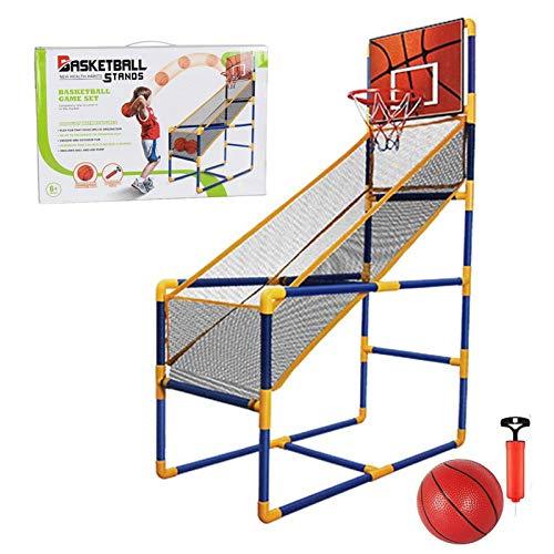 Watermelon Juego de aro de baloncesto para niños, sistema de tiro de deportes de interior con mini aro, bola inflable y bomba, juguetes para niños juego deportivo para niños y niñas de 2 a 15 años
