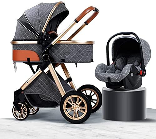 Cochecito de bebé Portátil y liviano Cochecito liviano Cochecito para bebés para niños pequeños, carro portátil para bebés con accesorios de cochecito, cochecitos de absorción de descargas plegables c