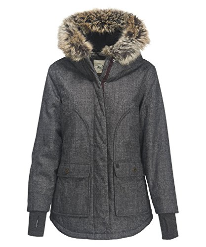 Woolrich Women's Bitter Chill Wool Loft Jacket, Oxford, X-Small