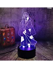 NARUTO Anime Nachtlampje Uchiha Itachi Model 3D LED Illusie Tafel Bureaulamp 7 kleuren veranderende wooncultuur NARUTO Fans Kerstlamp