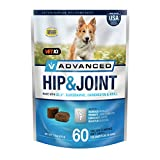 VetIQ Advanced Hip & Joint with UC-II and Omega-3s Advance Formula for All Dog Breeds, Chicken...