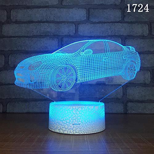 (Nur 1) Oldtimer Sportwagen 3D Nachtlicht sieben Farben führte kreative Geschenk Kinder Geschenk Geburtstagsgeschenk Dekoration