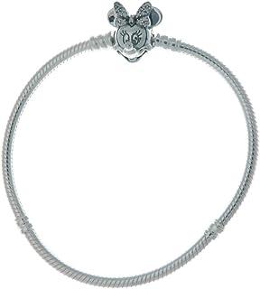 Pandora Disney Pavé Minnie Bracelet maille serpent en argent sterling