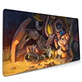 Ov-Er-Wat-Ch Ham-Mond Gaming Mouse Pads Non-Slip Mouse Pad Mouse Mat for Office Game15.8x35.5 in