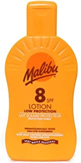 Malibu Protective Sun Lotion SPF8 Medium Protection 200 ml (Parallel Import Goods)