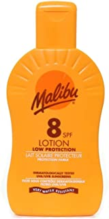 Malibu Sun Lotion Cream Protection 200ML Bottles - 20 Different SPF Factors To Choose From - (1 x 200ML BOTTLE, SPF 8 LOTION) by Malibu Sun