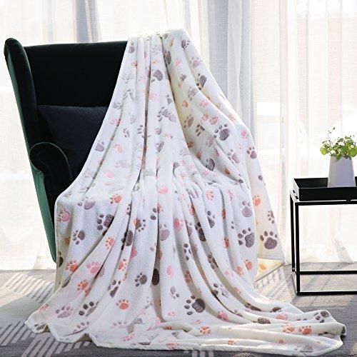 Allisandro® Super Softe Warme und Weiche Decke für Haustier Hundedecke Katzendecke Fleece-Decke/Tier Schlafdeck Überwurf für Hundebett Sofa und Couch- Gr. 200x150cm , Beige
