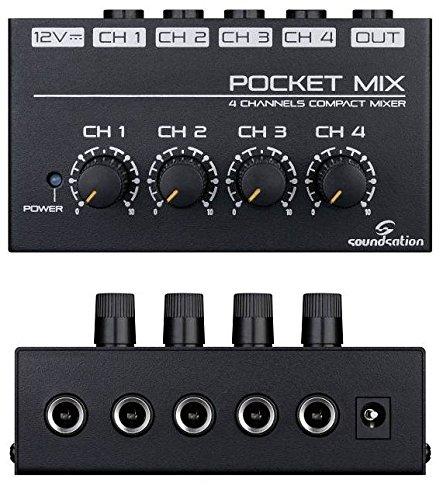 4-canales-mesa de mezclas PocketMix/mini-mixer, con fuente de alimentación