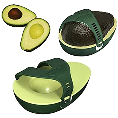 Quartly Green Avocado Saver and Holder Stay Fresh Saver Avocado Keeper Storage Container Kitchen Gadget Tools (A)