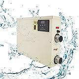 MXBAOHENG 5.5KW Calentador de Piscina Termostato de Piscina Casera 220V Termostato de Piscina Equipo Calentador de Agua Eléctrico para 105-140 ft³ / 660-880 gal