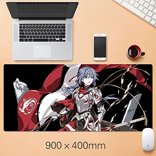 Showkig Large Protective Mouse Mats,Anime Cartoon Honkai Impact 3/HDA-006,Ergonomic Laptop Mouse Pad with Stitched Edges, Best Gaming Keyboard Pad for Teens Work (Size : 8003005mm)