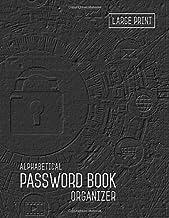 Password Book Organizer Alphabetical: 8.5 x 11 Password Notebook with Tabs Printed | Smart Black Design PDF