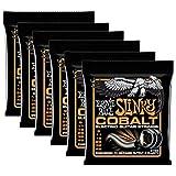 6 Sets of Ernie Ball 2722 Cobalt Hybrid Slinky Electric Guitar Strings