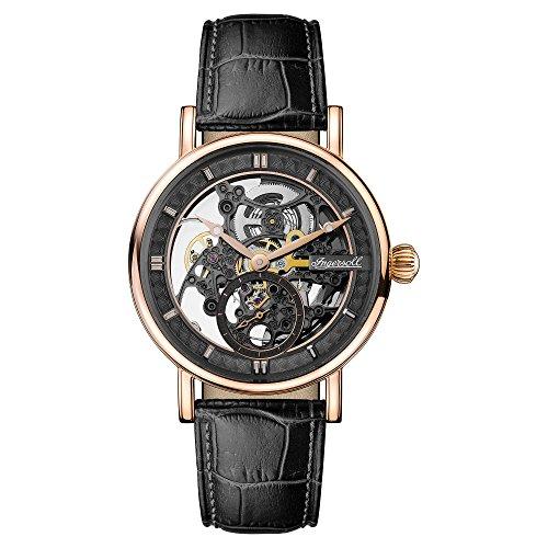 Ingersoll Herren Analog Automatik Uhr mit Leder Armband I00403