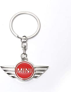 Mini Cooper Car Accesories Cool Strap Landyard Keychains Key Ring Key Fob for Women (Red)
