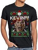 style3 Allein zu Haus Herren T-Shirt Kevin Xmas Weihnachten Weihnachtspullover Pulli Ugly Sweater Strick, Größe:L