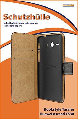 mumbi Tasche Bookstyle Case kompatibel mit Huawei Ascend Y530 Hülle Handytasche Case Wallet, schwarz - 2