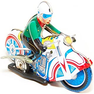 Stand up Motorcycle, Metal Motorcycle Winds Up, Tin Toy Collection