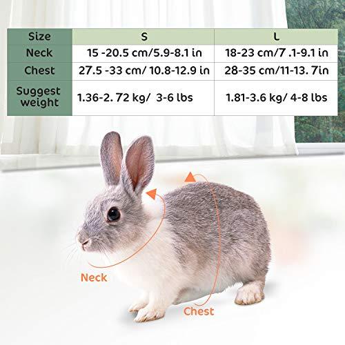 Happy Hachi Arnés Conejos con Correa Elástica para Animales ...