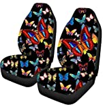 3D Butterfly Car Seat Cover Cool Animal Pattern Interior Auto Decor Universal Fit Truck Vehicle Pet Cushion Protector Case Set de 2