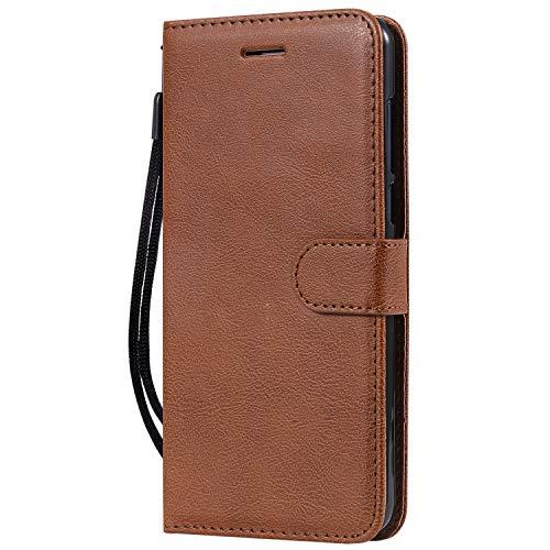 Hülle für Nokia 3.1Plus Hülle Handyhülle [Standfunktion] [Kartenfach] Tasche Flip Hülle Cover Etui Schutzhülle lederhülle flip case für Nokia 3.1 Plus - DEKT051451 Braun