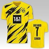 PUMA BVB Heimtrikot Erwachsen Saison 2020/21, Größe:XL, Spielername:7 Sancho