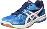 ASICS Gel-Rocket 7, Chaussures de Volleyball Femme, Bleu (Blue Jewel/White/Flash Coral), 42.5 EU
