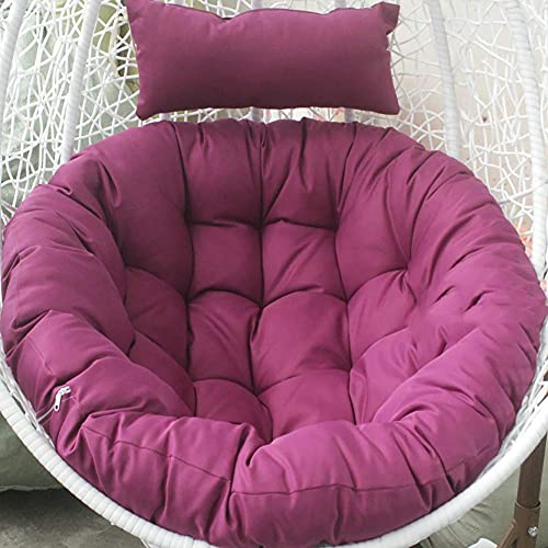 CIN&GO Cojines Colgantes para sillas con Forma de Huevo, Hamaca Redonda Gruesa para Respaldo de Silla, cojín para Cuna, Cojines Dobles para Silla de papasan, 41 Pulgadas